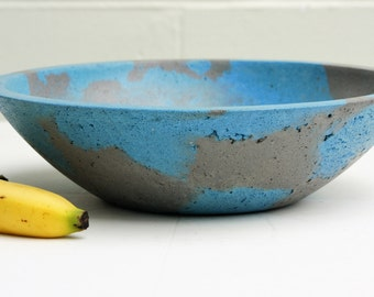 Blue and Gray Concrete Bowl