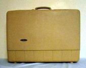 Vintage luggage Suitcase Sear's Forecaster Hard shell luggage  Home Decor  Storage