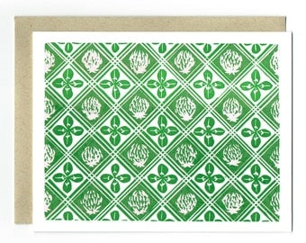 Clovers Greeting Letterpress Card