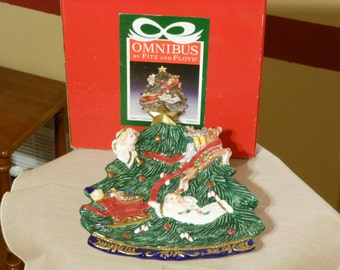 Fitz & Floyd Angels' Christmas Canape Plate in Box