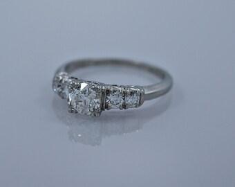 Art Deco .50ct. & Platinum Engagement Ring - J35195