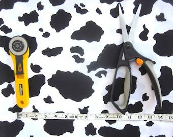 Cow Print Fabric, Animal Print, Western Print, 1/2 yard, Cotton Fabric