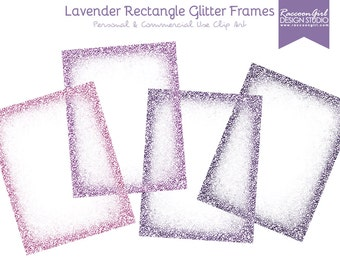 50% OFF Lavender Rectangle Glittery Digital Frames Set - Personal & Commercial Use