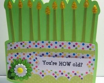 Shaped Birthday Card