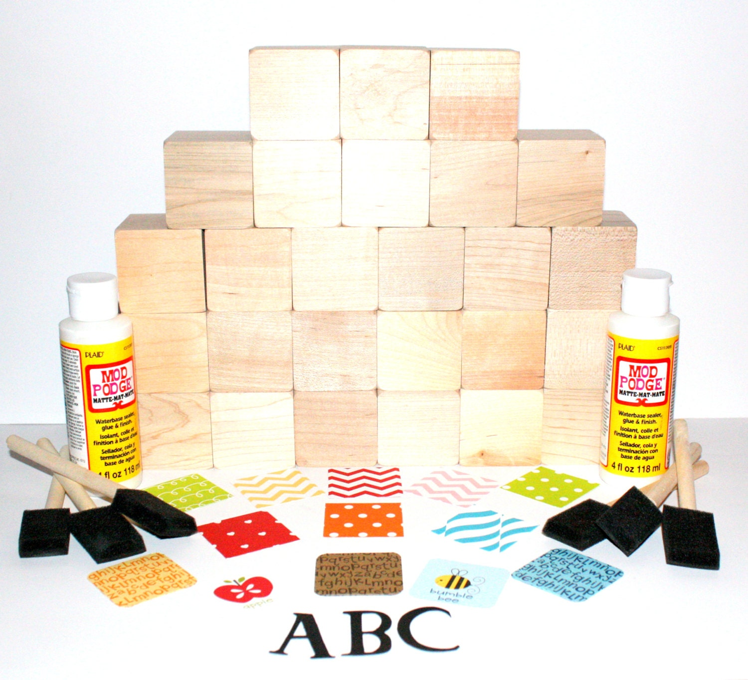 wooden alphabet blocks baby blocks abc baby shower gift