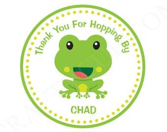 Frog Goody Bag Tags, Frog Favor Bag Tags, Frog Goodie Bag Tags, Frog Favor Bag Tags