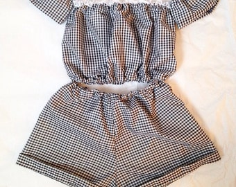 Black Gingham Two Piece Co-ord