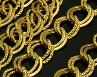 1 mt 3,3 feet 12 x 9 mm 1/2 x 3/8 inch gold plated metal link Chain 827