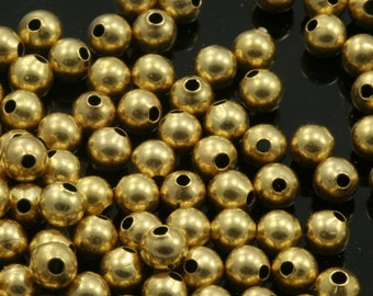 40 pcs 4 mm gold plated brass spacer bead 1 mm 18 gauge bab1 838