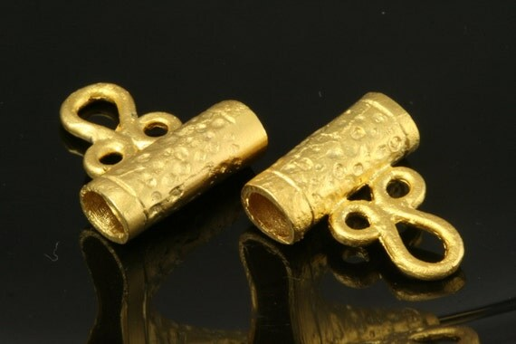 4 pcs 17x15 mm gold plated alloy charm hanger holder 212