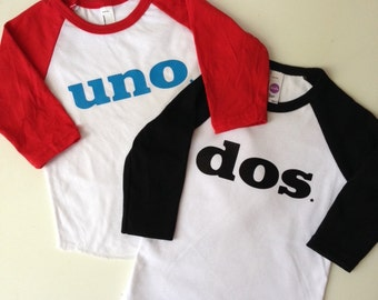 Uno-Dos-Tres-Baby or Toddler Birthday Shirts