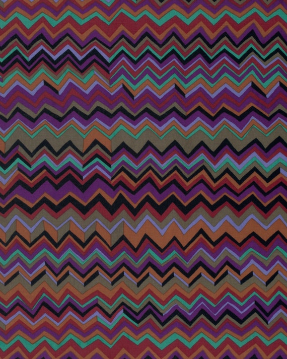ZIG ZAG BLACK BM043  Fall 2015 Brandon Mably for Kaffe Fassett Collective Sold in 1/2 yd increments