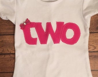 Hot Pink Birthday Shirt or Baby Bodysuit