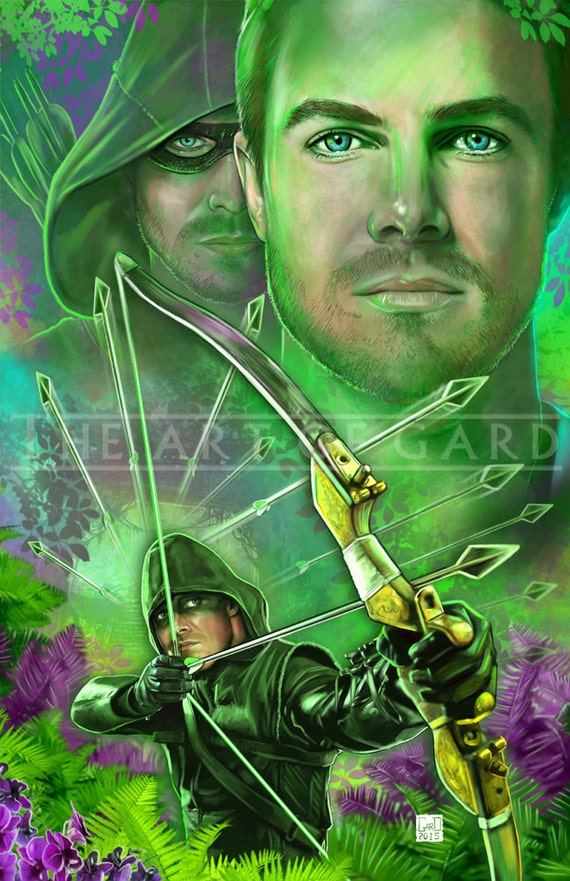 Oliver Queen / Arrow (collage) 11X17 Print