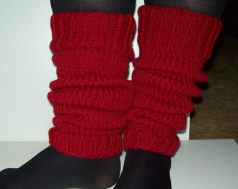 Chunky knit leg warmers. Selection of colours