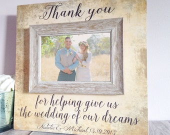 parents wedding gift , parent wedding gift , mother of the bride , father of the bride , thank you gift , personalized picture frame