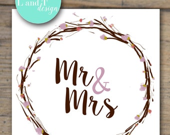 Mr and Mrs Wedding Card