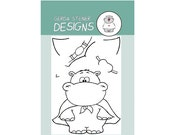 Hippo in Disguise -  4x6 Clearstamp Set