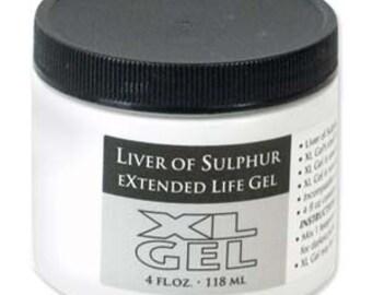 Liver of Sulfur, XL Gel LIVER of SULPHUR,  Patina Gel Beadsmith, Liver of Sulfer, 4 oz Oxidize Metal. Age Metal, Blacken Copper Silver Brass