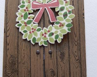 Christmas Wreath on Gate Door