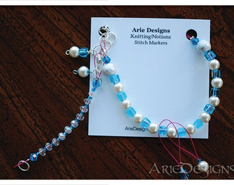 Row Counter Bracelet - Light Blue and Pink