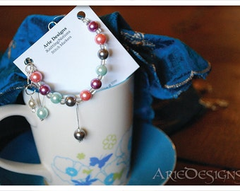 Row Counter Bracelet - Mixed Pearls