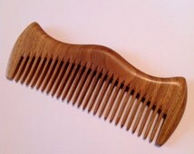 UB's Beard Basics Green Sandalwood Beard Comb Hair Comb Beard Comb Organic Antistatic Massaging Therapeutic Aromatic Sturdy Durable Comb