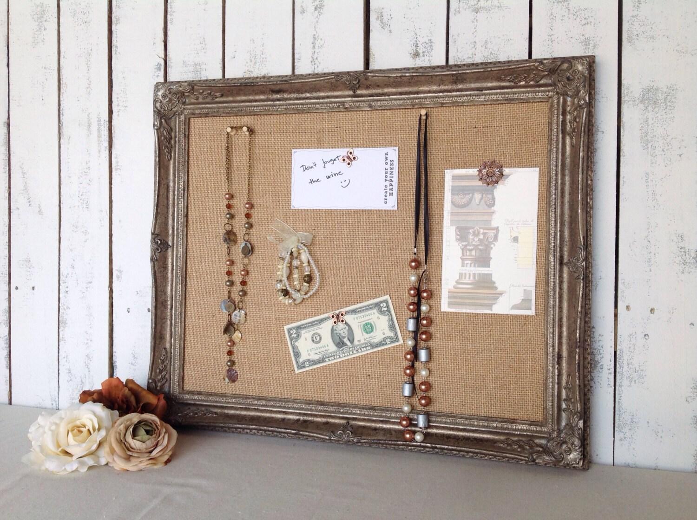 Framed Cork Board Pin Board Distressed Finish