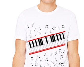 Beat Video Inspired Piano Custom T-Shirt 3001