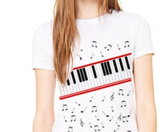 Beat It Video Inspired Piano Ladies' The Favorite Tee 6004
