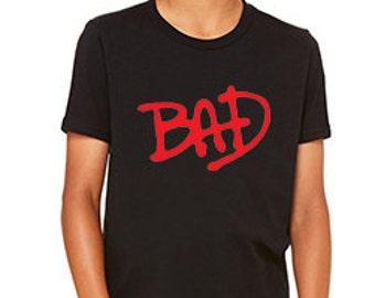 Michael Jackson Bad Retro 80s Custom T-shirt 3001Y