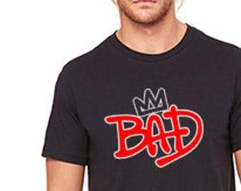 Michael Jackson Bad 25 Crown Custom T-Shirt 3001