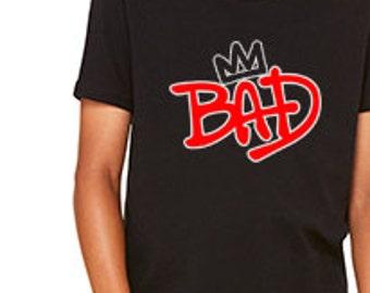 Michael Jackson Bad 25 Crown Custom T-Shirt 3001Y