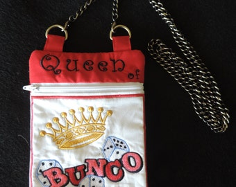 Queen of Bunco Hipster Purse