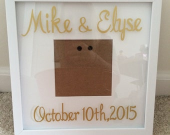 Personalized Wedding Date Frame