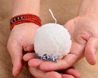 3D Rose Ball Candle Mold Soap Mold Mould Silicone Mold DIY Handmade Flexible Mold Cake Mold