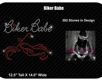 Biker Babe Rhinestone Bling Shirt
