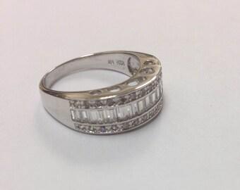 Stunning 925 Silver CZ Ring