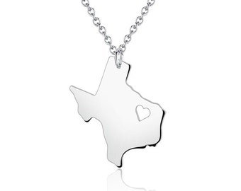 I heart texas state necklace silver texas necklace texas texas necklace texas pendant i heart state necklace state charm map necklace mozeypictures Images
