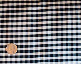 Yuwa Live Life Black Check - 100% Cotton Japanese Fabric - 1/2 Yard