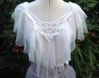 Vintage lacy top