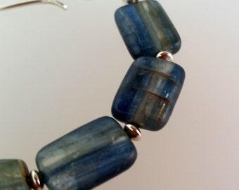 "Blue Kyanite Bracelet sterling silver handmade gemstone jewellery UK Designer ChaByDesign 7"""