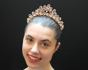 Irina Ballet Tiara Rubi - Ready to Ship