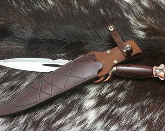 Demon Knife with Handmade Leather Sheath