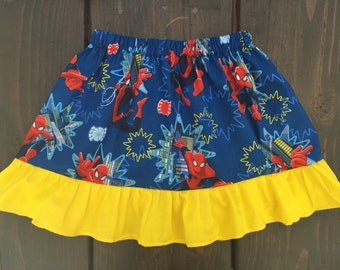 Spiderman skirt with ruffle