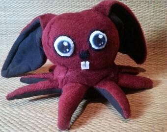 Red Fuzzy Octobunny Plushie