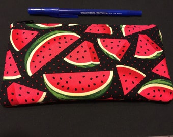 Watermelon Pencil Case / Zipper Pouch #106