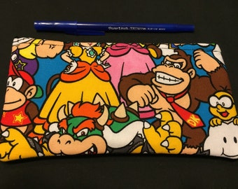 Nintendo Characters Pencil Case/ Zipper Pouch #104