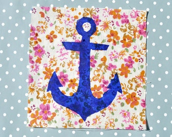 Floral Anchor Patch