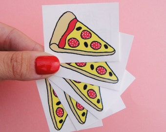 PIZZA TEMPORARY TATTOO x 2